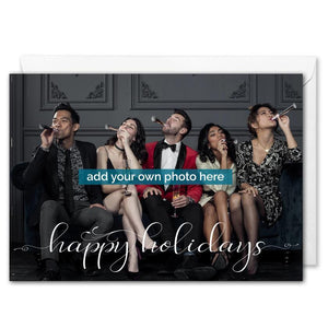 Happy Holidays Business Photo Christmas Card