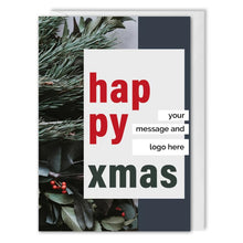 Load image into Gallery viewer, Happy Xmas Card For Business - Custom Logo, Message