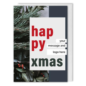 Happy Xmas Card For Business - Custom Logo, Message
