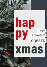 Load image into Gallery viewer, Corporate Christmas Card - Happy Xmas - Custom Logo
