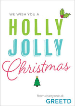 Load image into Gallery viewer, Custom Logo Christmas Card For Business - Holly Jolly