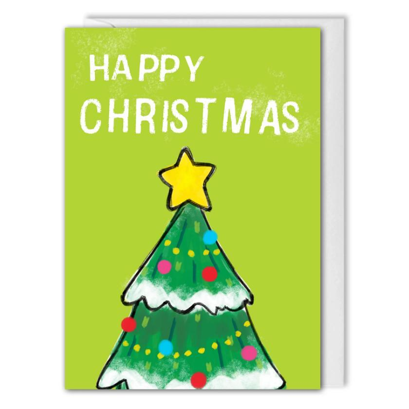 Green Christmas Tree Card Business - Custom Logo