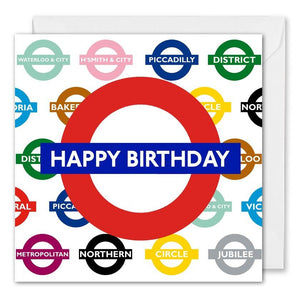 London Underground Business Birthday Card - B2B