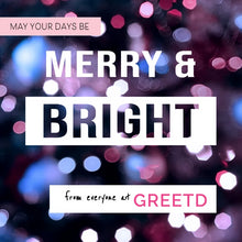 Load image into Gallery viewer, Client Christmas Card - Merry and Bright
