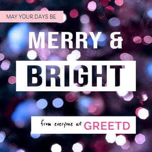Client Christmas Card - Merry and Bright