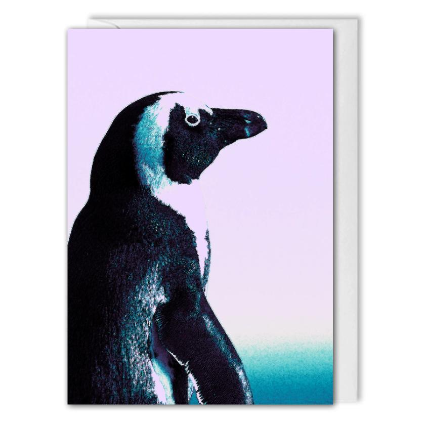 Penguin Christmas Card Business - Custom Logo, Message
