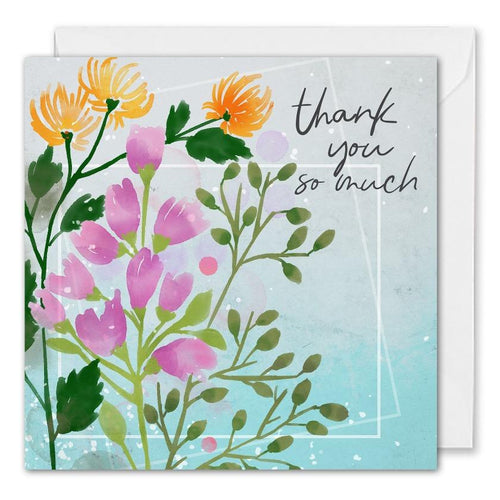 Custom Business Thank You So Much Floral Card