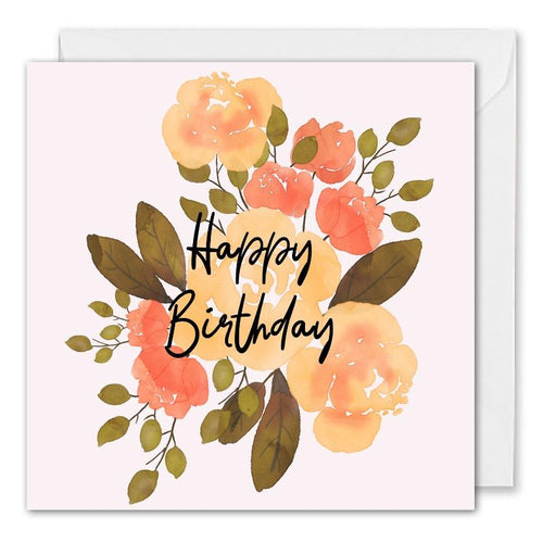 Custom Corporate Birthday Card - Roses Floral