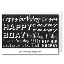 Load image into Gallery viewer, Birthday Greetings Card For Business - Personalised Logo