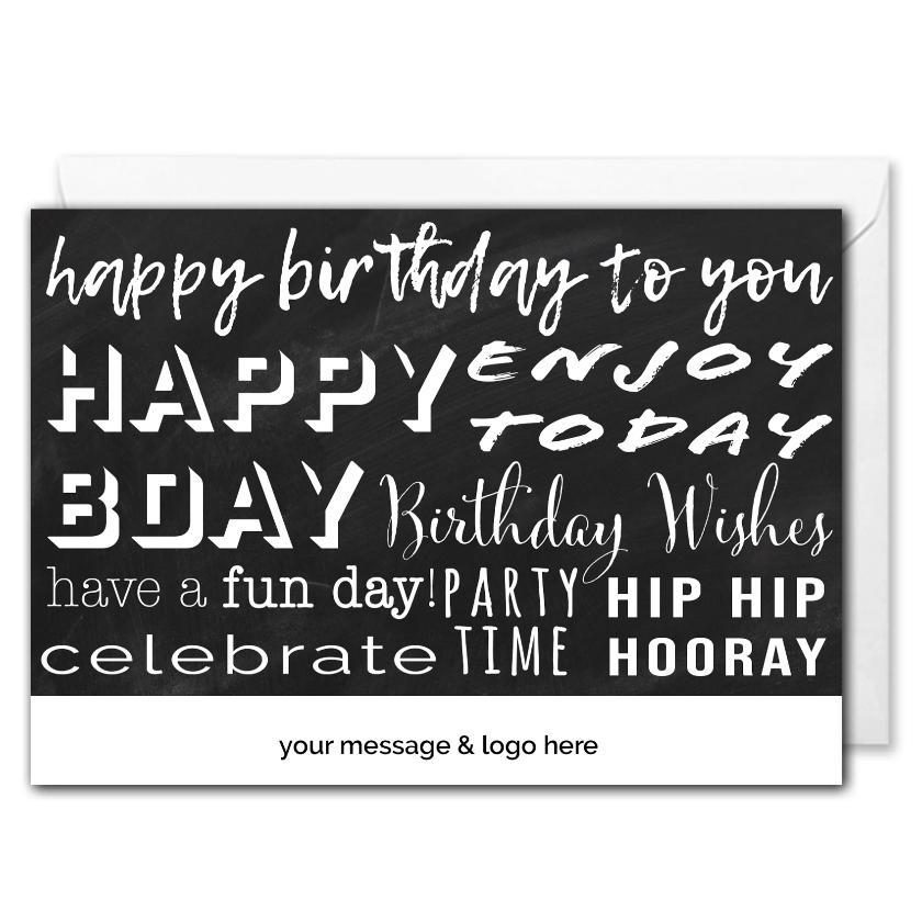 Birthday Greetings Card For Business - Personalised Logo