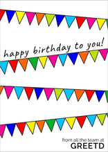 Load image into Gallery viewer, Buntings Birthday Card For Business - Employees, Customers