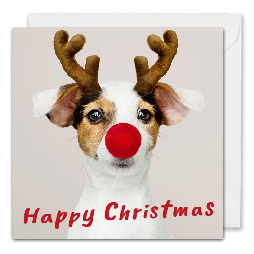 Happy Christmas Corporate Card - Rudolph Dog