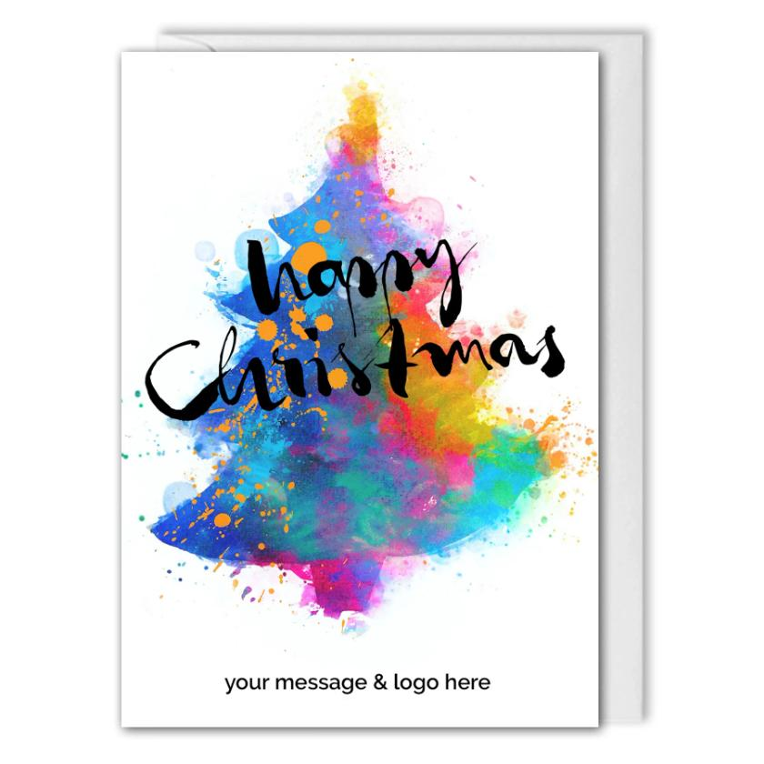 Personalised Business Christmas Card - For Clients, Employees