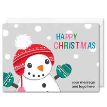 Load image into Gallery viewer, Custom Business Christmas Card - Snowman