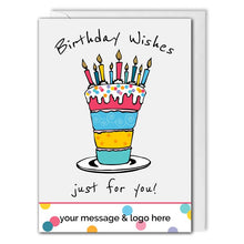 Load image into Gallery viewer, Business Birthday Card - Birthday Cake - Employees, Clients