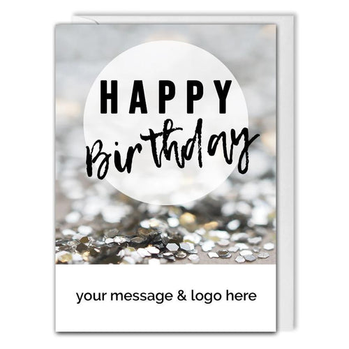 Custom Business Birthday Card - Clients, Employees