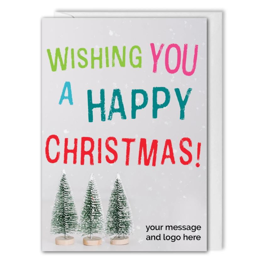 Business Christmas Card - Custom Logo - Clients, Employees