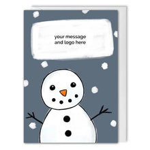 Load image into Gallery viewer, Snowman Custom Message Business Christmas Card
