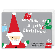 Load image into Gallery viewer, Custom Santa Business Christmas Card - Silver