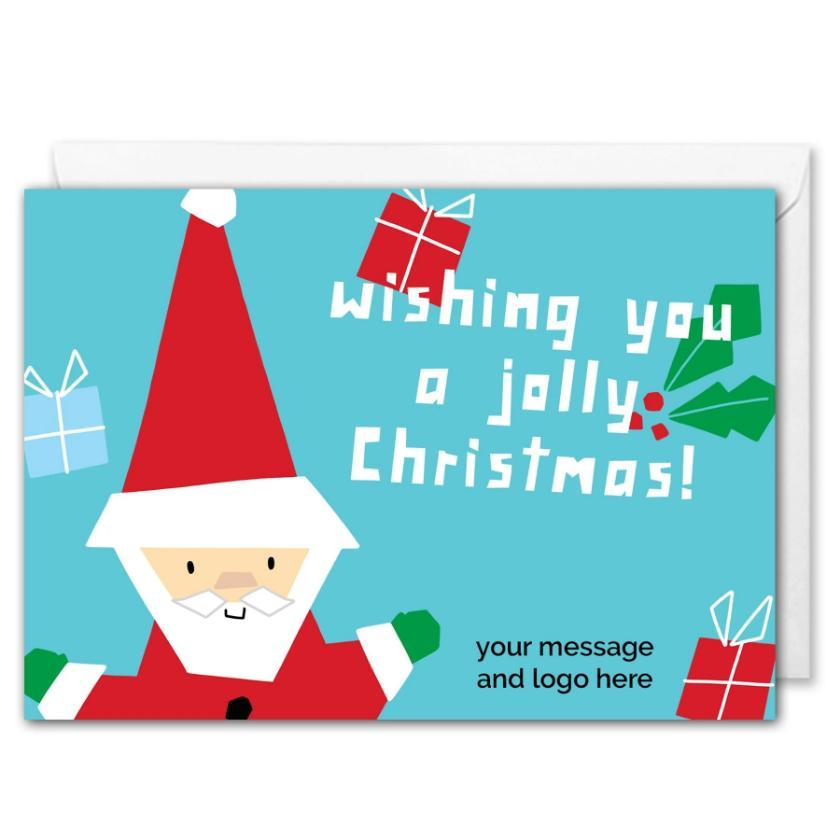 Personalised Santa Christmas Card - Clients, Staff