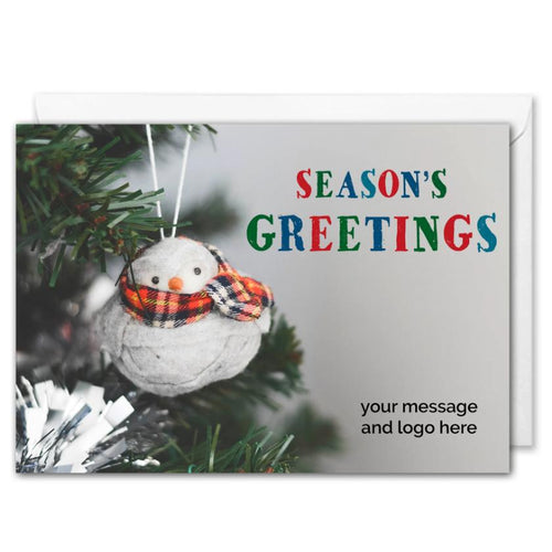 Season's Greetings Business Christmas Card Custom