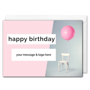 Custom B2B Birthday Card - Balloon