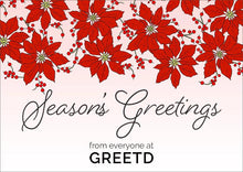 Load image into Gallery viewer, Custom Logo Corporate Christmas Card - Pink Poinsettia