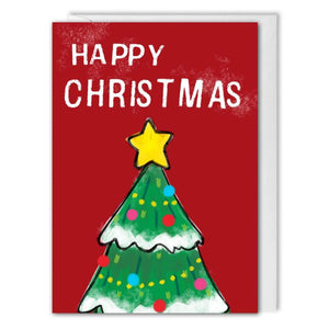 Custom Logo Christmas Tree Card For Business - Red - B2B