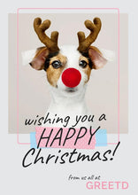 Load image into Gallery viewer, Custom Logo Business Christmas Card - Rudolph Dog