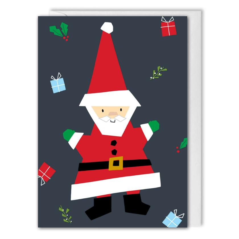 Santa Business Christmas Card - Personalised Logo