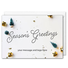 Load image into Gallery viewer, Custom Logo Season's Greetings Card For Business