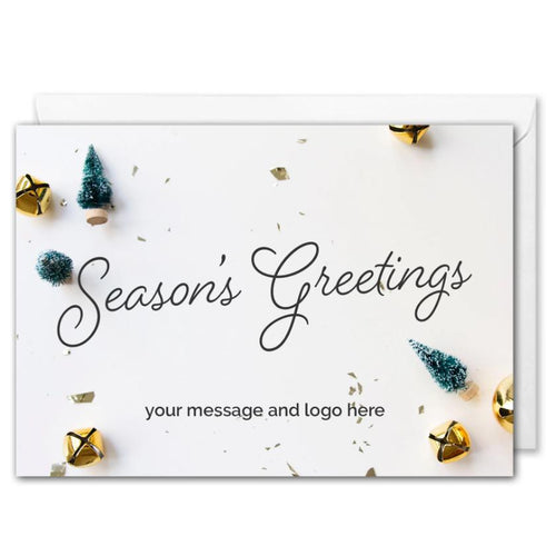 Custom Logo Season's Greetings Card For Business