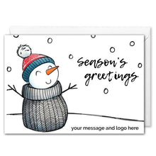 Load image into Gallery viewer, Personalised Snowman Christmas Card Corporate