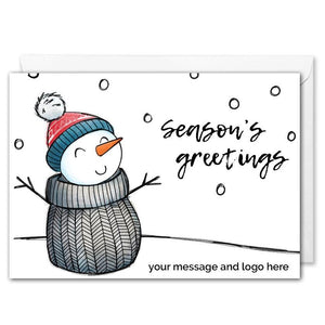 Personalised Snowman Christmas Card Corporate