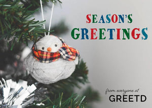 Snowman Christmas Card For Business Greetd