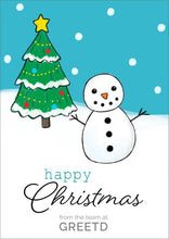 Load image into Gallery viewer, B2B Christmas Card Custom - Snowman
