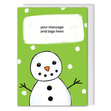 Load image into Gallery viewer, Personalised Snowman Corporate Christmas Card