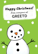 Load image into Gallery viewer, Personalised Snowman B2B Christmas Card