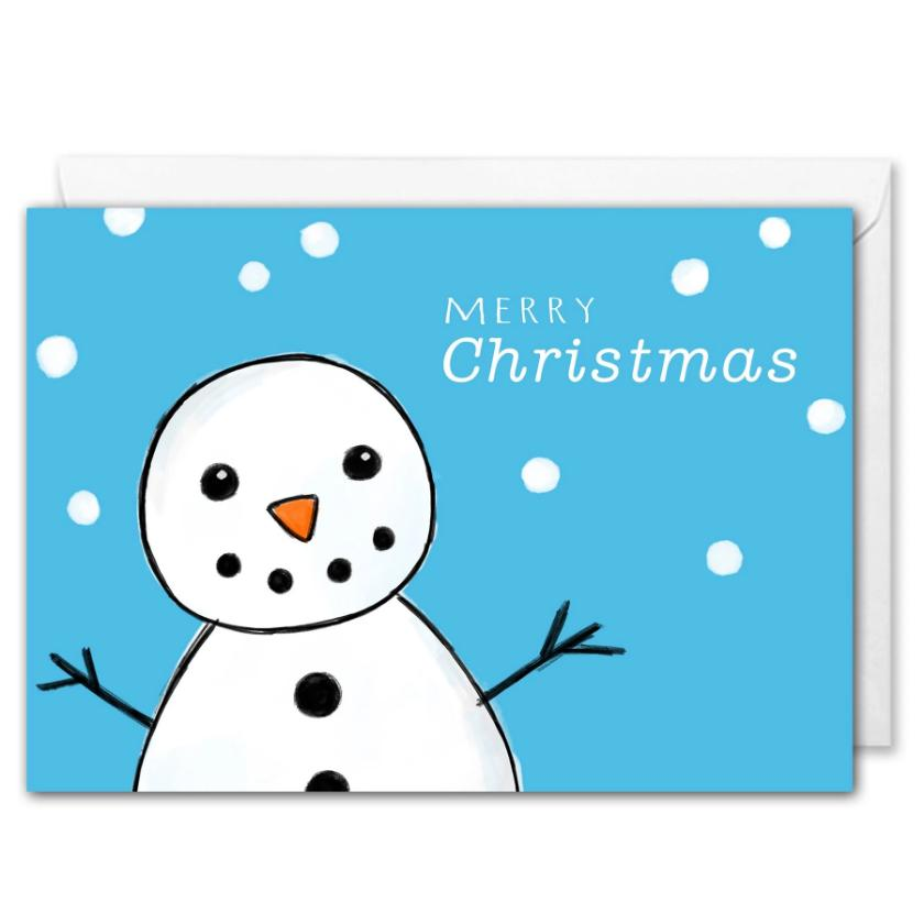 Snowman Custom Corporate Christmas Card