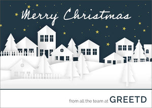 Christmas Card For Estate Agents - Custom Logo
