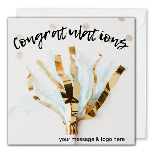 Personalised Business Congratulations Card