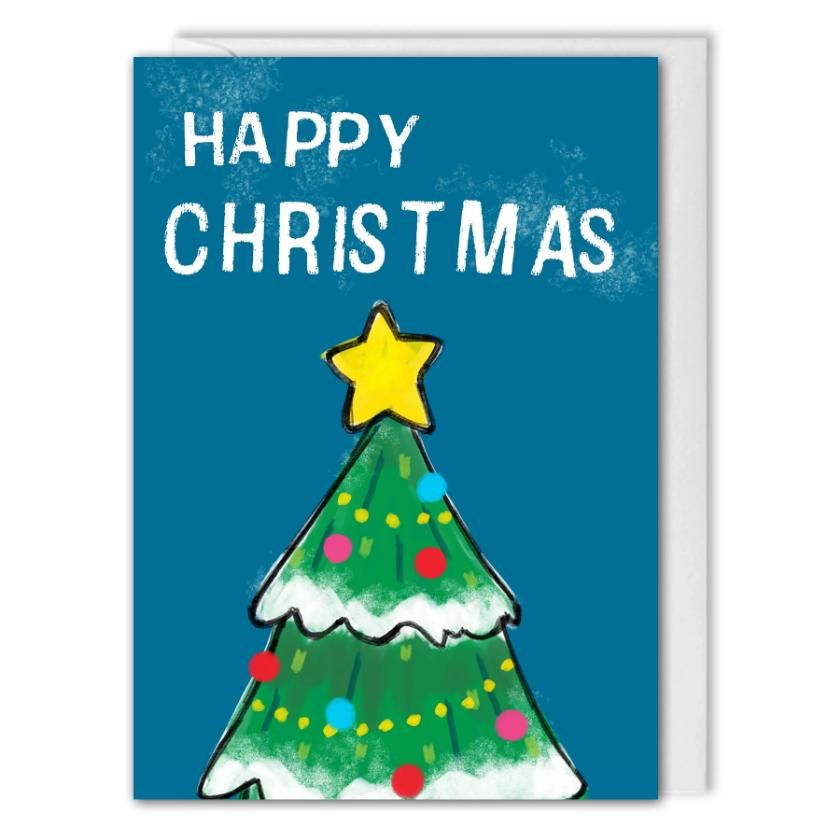 Personalised Happy Christmas Tree Card For Business - B2B