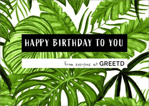 Personalised Business Birthday Card - Tropical