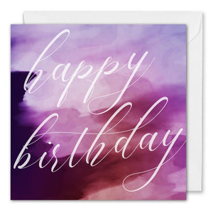 Personalised Corporate Birthday Card - Purple Watercolour