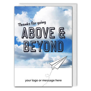 Custom Recognition Card For Business - Above & Beyond