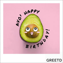 Load image into Gallery viewer, Personalised B2B Birthday Card Avocado