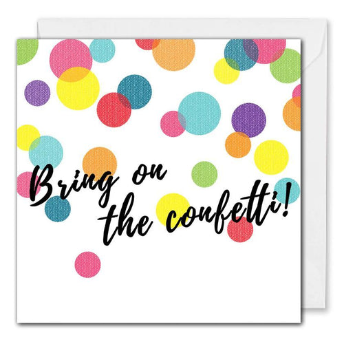 Confetti Celebration Card For Business - Personalised Logo & Message
