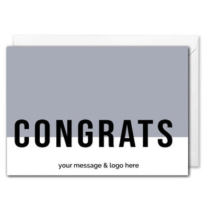 Custom Business Congrats Card