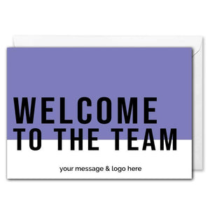 New Employees Welcome Card For Business