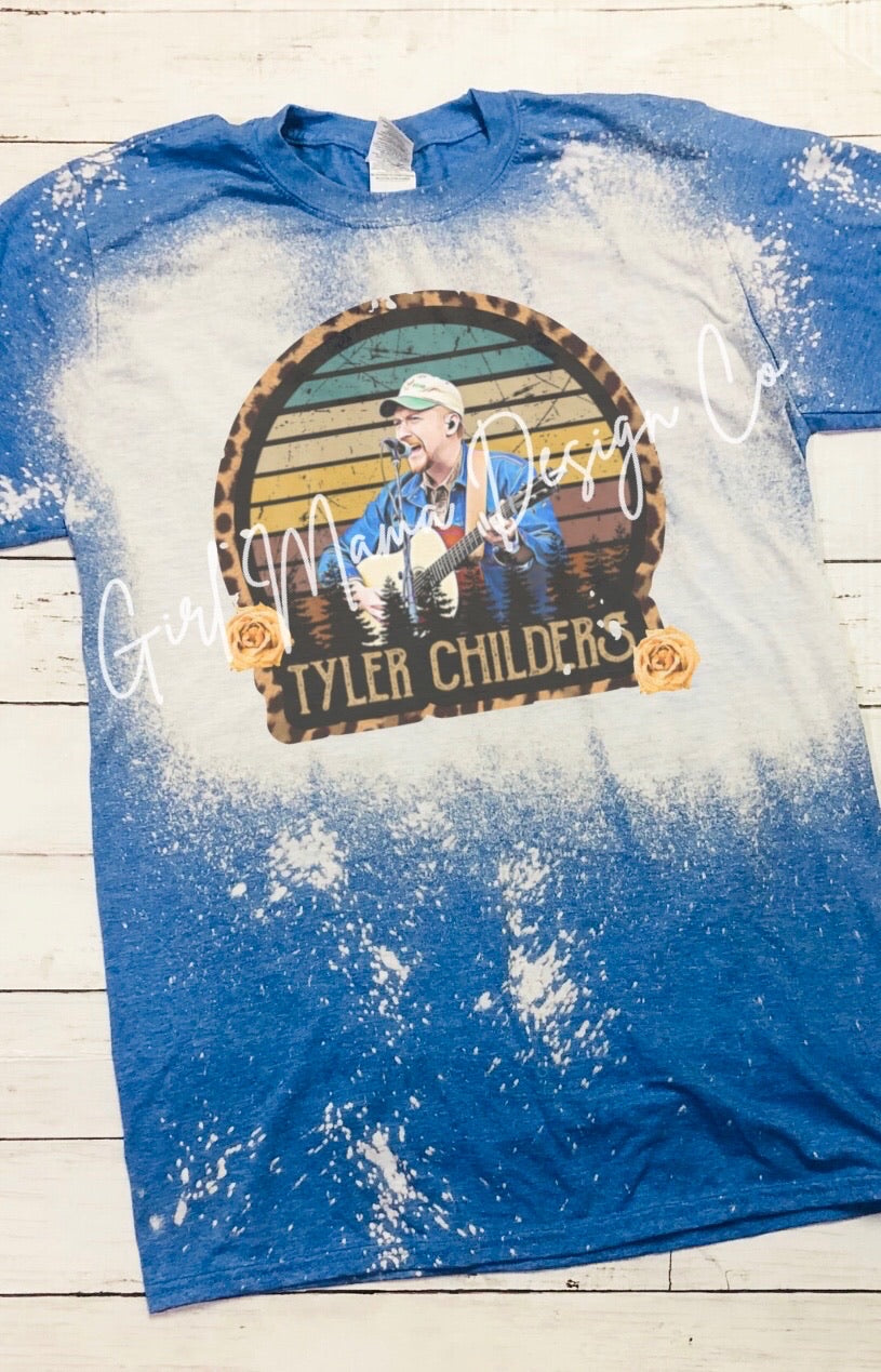 Tyler Childers Bleached Acid Washed Graphic Tee